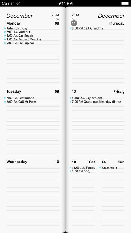 Week Agenda Ultimate
