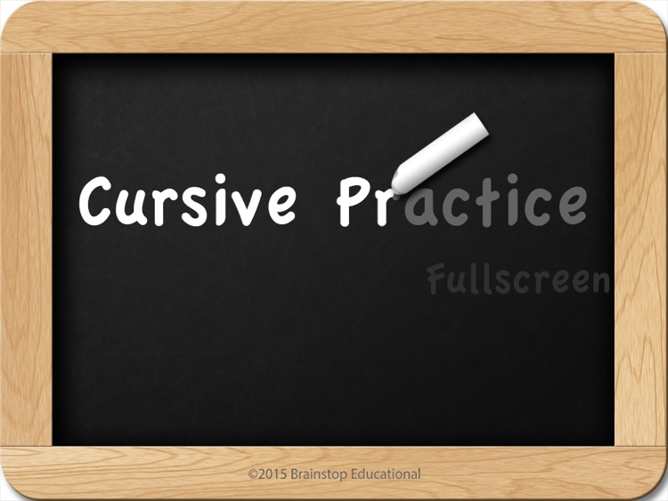Cursive Practice FullScreen screenshot-0