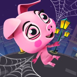Crazy Rope Swinging Spider Pig – Swing and Fly to Escape from the City
