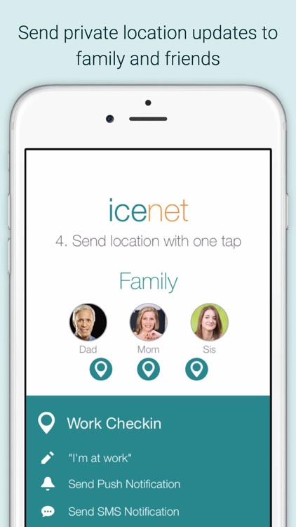 ICEnet - Private Location Sharing for Family & Friends