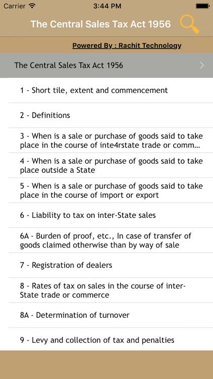 The Central Sales Tax Act 1956