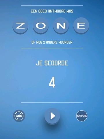 Vier Letters - Raad het Woord iPad app afbeelding 3