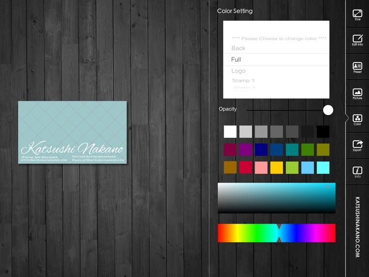 BusinessCardDesignerHD - Business Card Maker with AirPrint screenshot-3