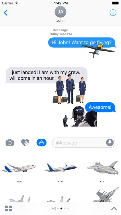 Flying Stickers