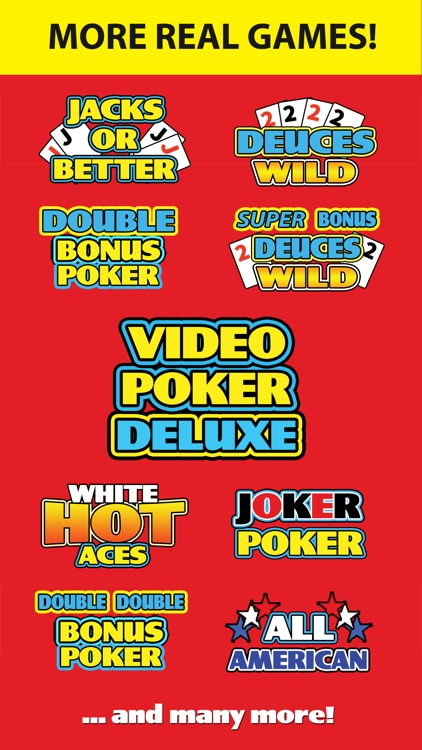 Video Poker Deluxe - Vegas Casino Video Poker Game