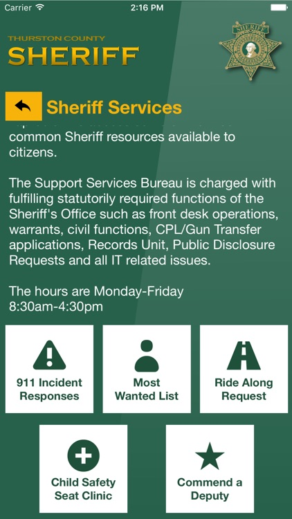 Thurston County Sheriff by Thurston County