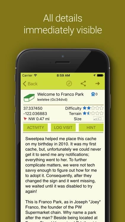 Geocaching App & Widget