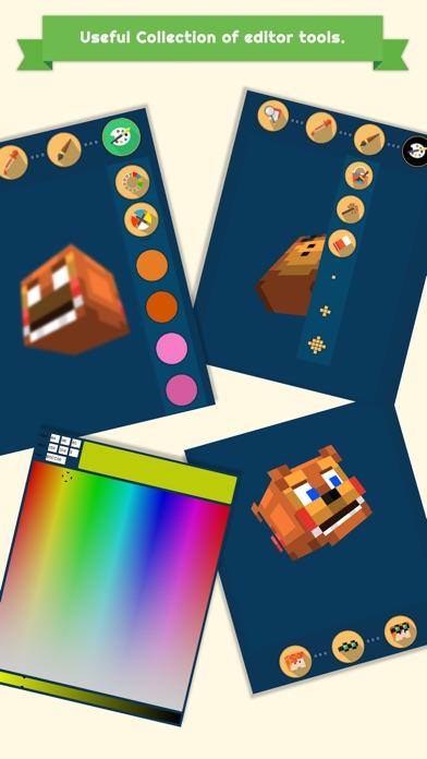 3D FNAF Skin Editor for Minecraft PE+PC Screenshot on iOS