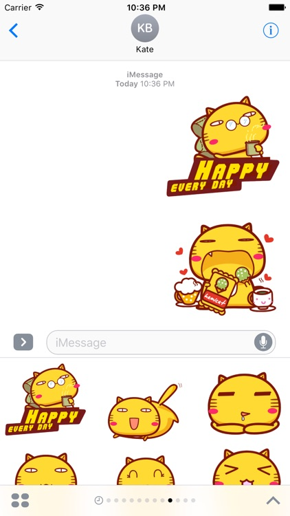 Hami cat sticker pack for iMessage