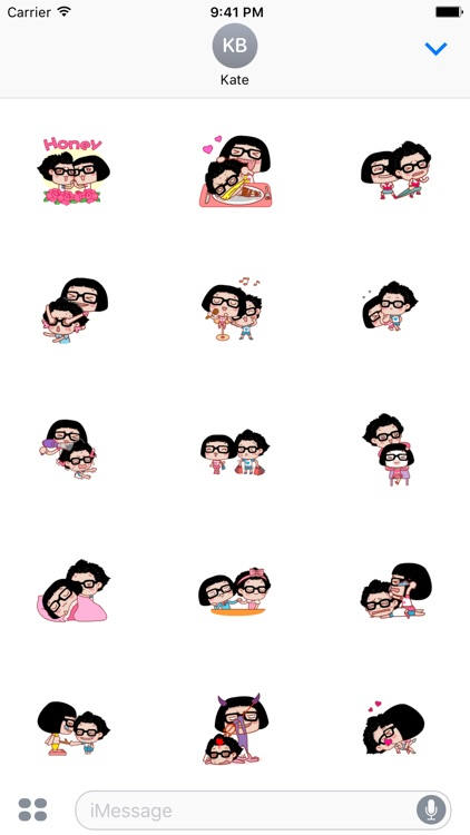 Couple Hana - I love you animated stickers pack screenshot-3