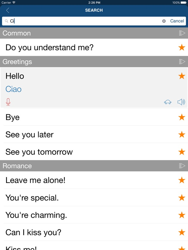 Learn Italian Phrases & Words on the App Store