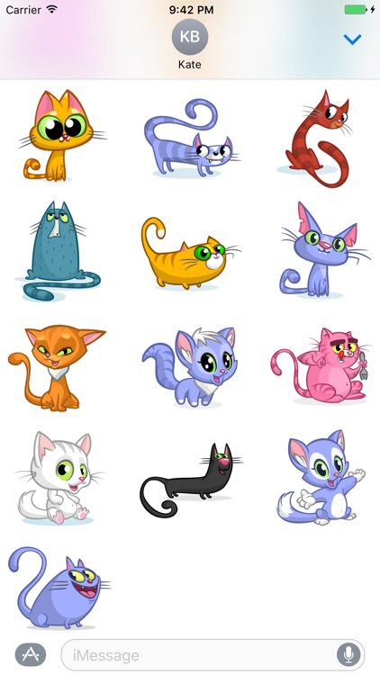 Cartoon Cat Sticker Vol 02
