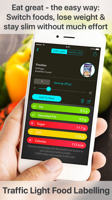 Traffic Light Calorie Counter & Food Guide screenshot one