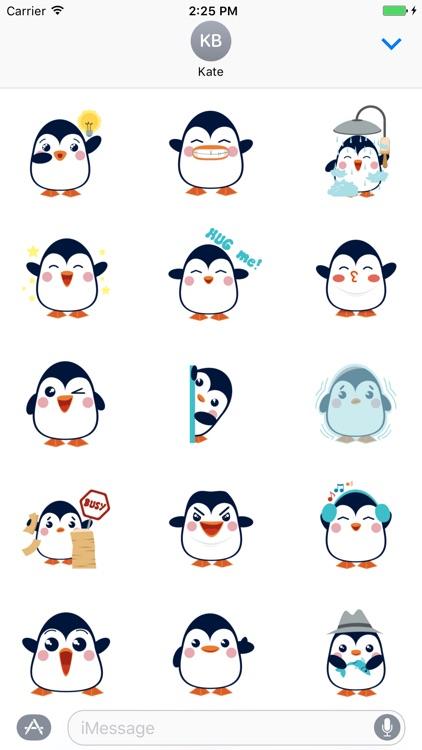 Penguins Cute - Fc Sticker screenshot-3
