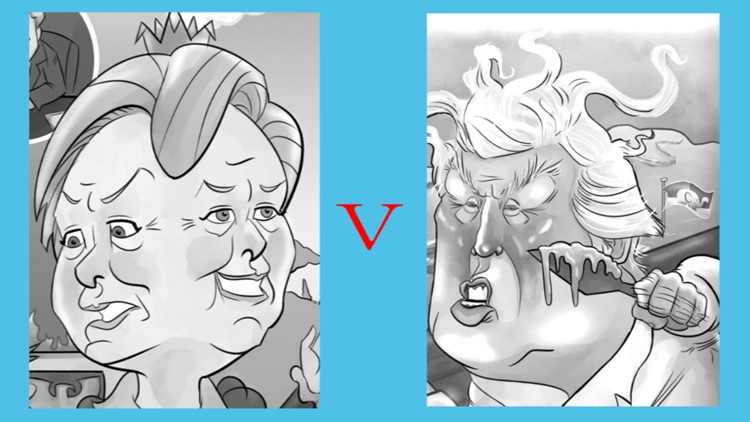 Trump vs Clinton Adult Coloring Electoral Vote 2016 screenshot-4