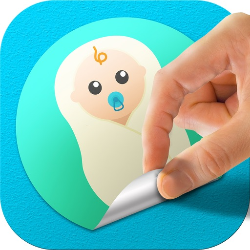 Baby Stickers & Pregnancy Milestone Photo Booth HD