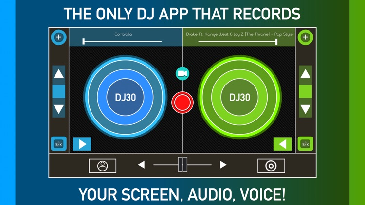 DJ Record Screen Music & Voice