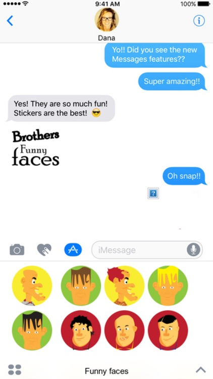 Funny Faces stickers by drop sound
