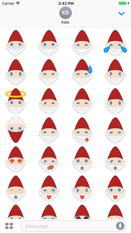 Santa Emoji Stickers