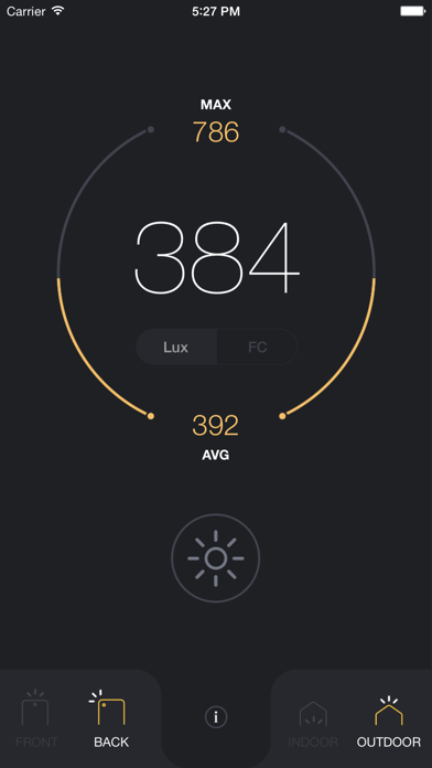 Screenshot for Light Meter - lux and foot candle measurement tool in Denmark App Store
