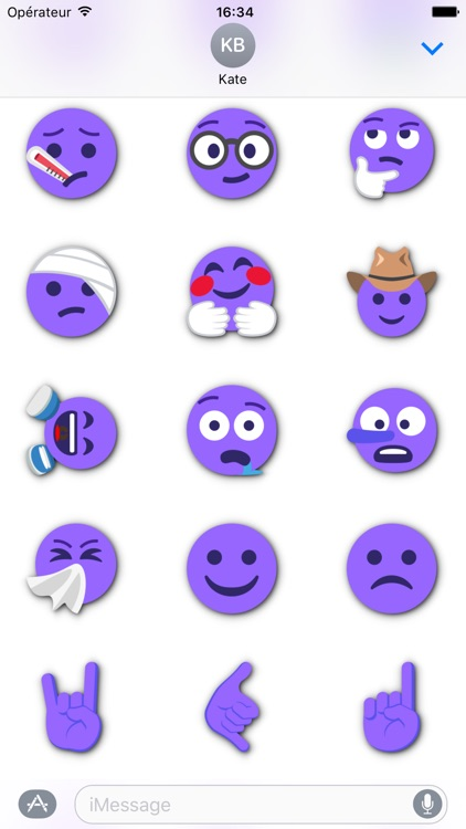 PURPLE Emoji • Stickers for iMessage screenshot-4