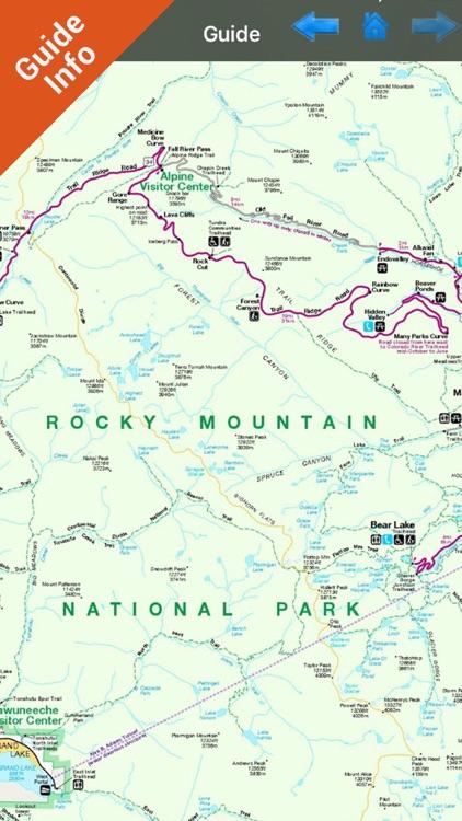 Rocky Mountain National Park - GPS Map Navigator screenshot-3