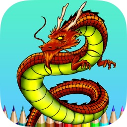 Coloring Book Dragon HD
