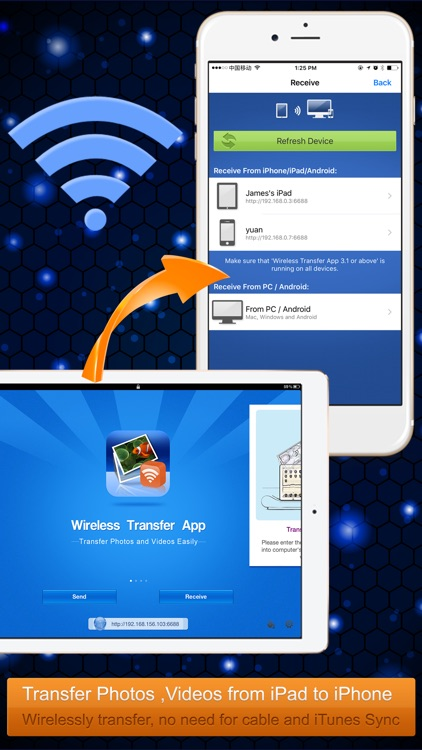 Wireless Transfer App:Sync backup photo and video