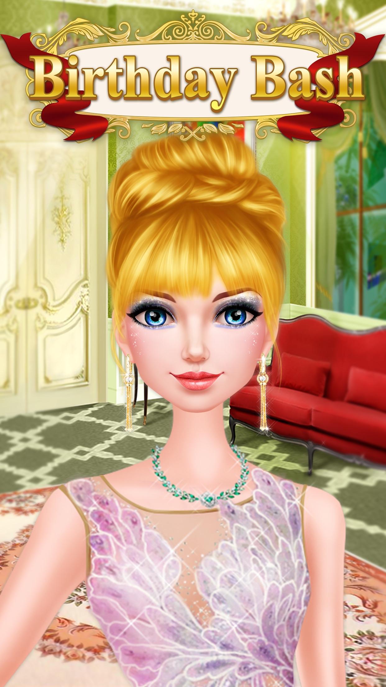 Princess Birthday Bash Makeover Royal Beauty Salon Screenshot