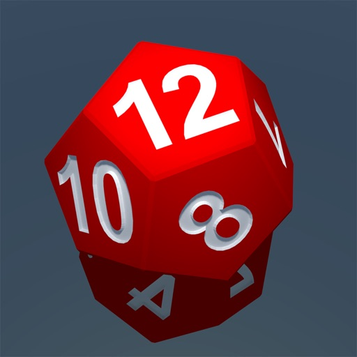 RPG D12 Role-Player Dice for iMessage