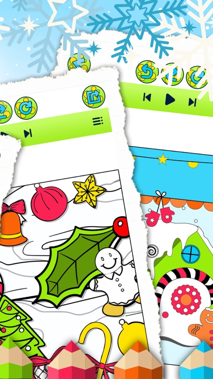 Christmas Colorfly – Free Color.ing Book for Kids screenshot-3