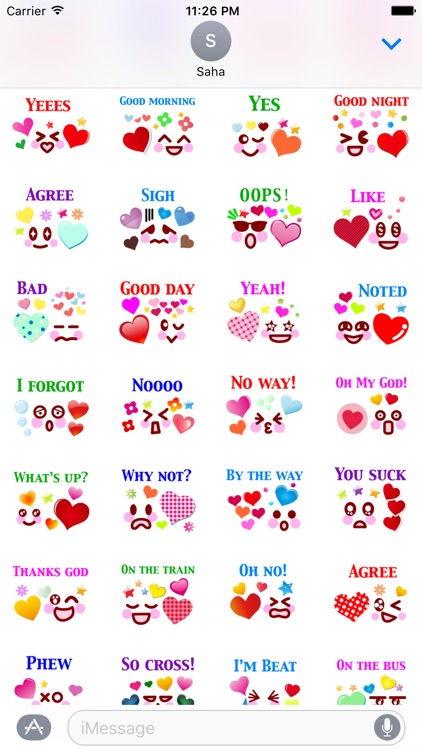 Say It Emotion Stickers