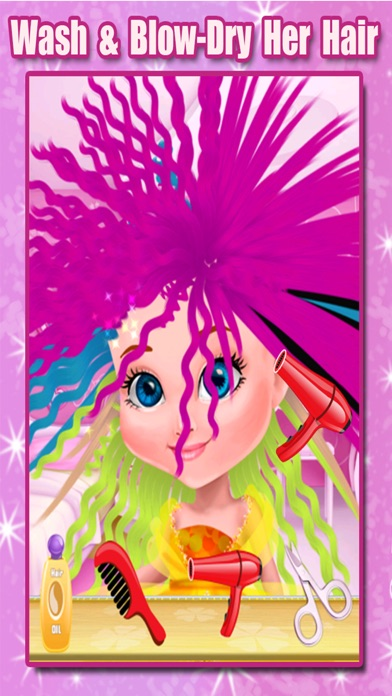 Little Princess Hair Salon - Make Your Own Hair Style For Kids screenshot two
