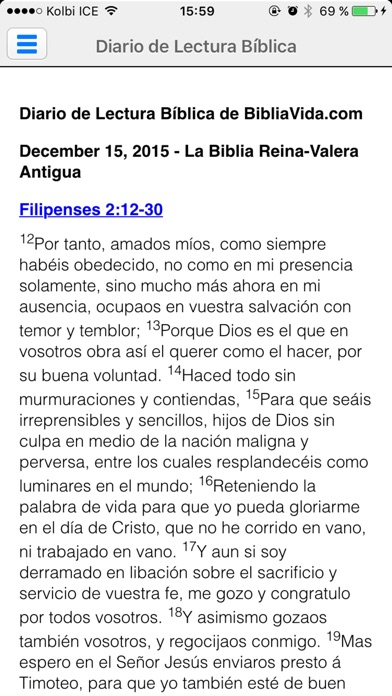 Screenshot for Biblia Reina Valera en Español in United States App Store