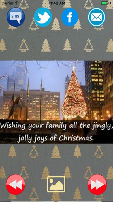 Merry Christmas greetings card and New Year 2017のおすすめ画像1