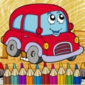 Vehicles Coloring Page Free-Fun Painting Good Kids icon