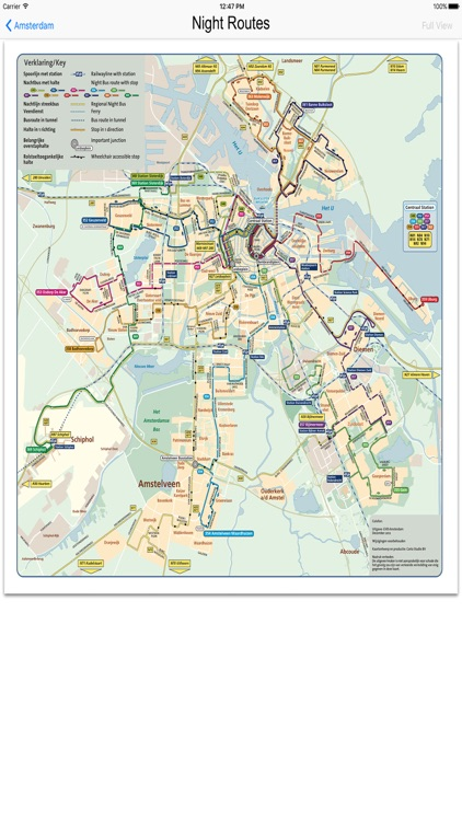 Amsterdam Metro Train Maps
