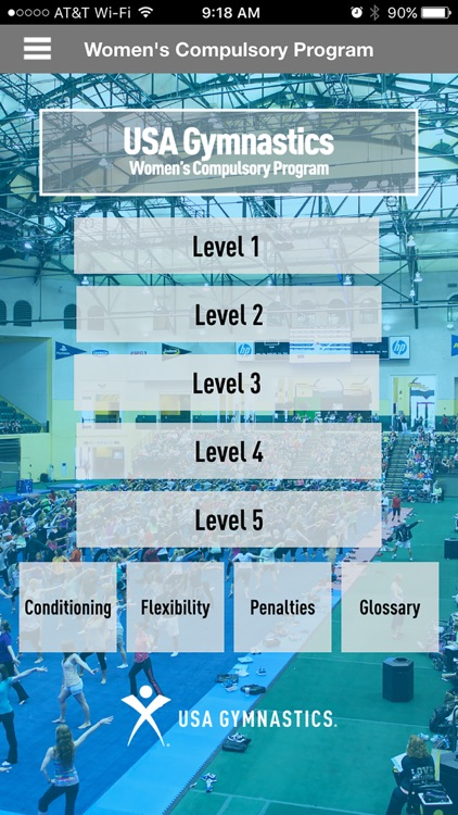USA Gymnastics Women's Compulsory Program app image