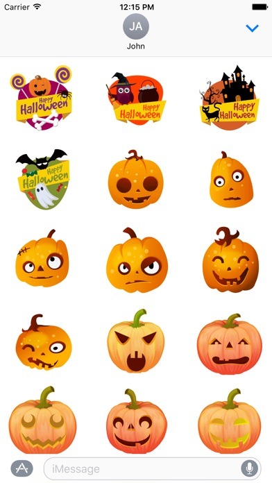 ... Screenshot #5 for Halloween Stickers - Animated iMessage Stickers ...