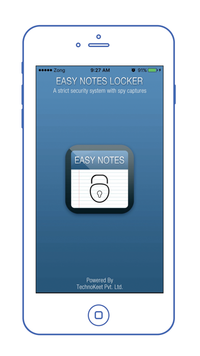 Easy Notes Locker - Password Protected Notepad screenshot one
