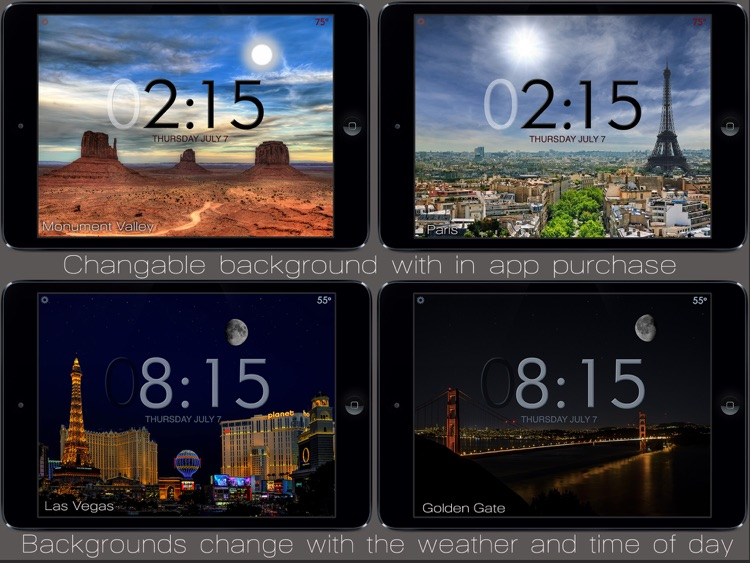 Beautiful Clock Radio lPad screenshot-3