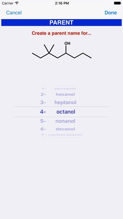 Learn Organic Chemistry Nomenclature 1 screenshot-4
