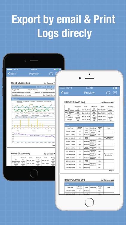 Glucose Wiz Pro - Blood Sugar Log and Pill Tracker screenshot-3