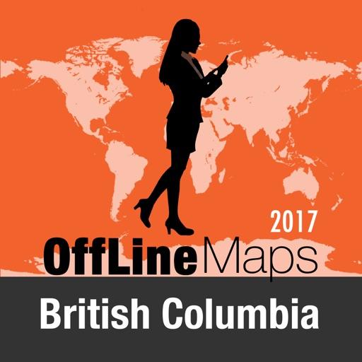 Columbia Británica mapa offline y guía de viaje