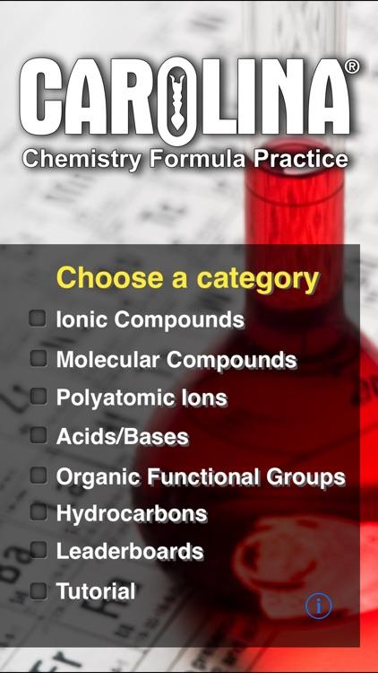 Chemistry Formula Practice