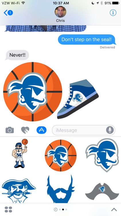 Seton Hall Stickers screenshot-2