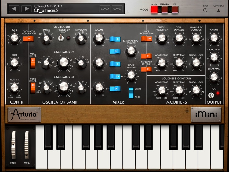 iMini Synthesizer screenshot-1