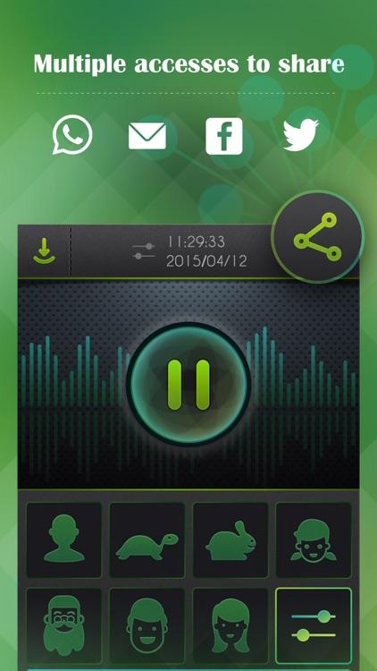 Voice Changer, Sound Recorder screenshot-3