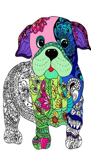 ausmalbilder für erwachsene hunde  ausmalbilder und vorlagen