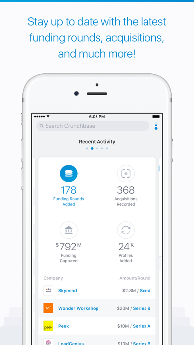 Screenshot 3 for CrunchBase's iPhone app'